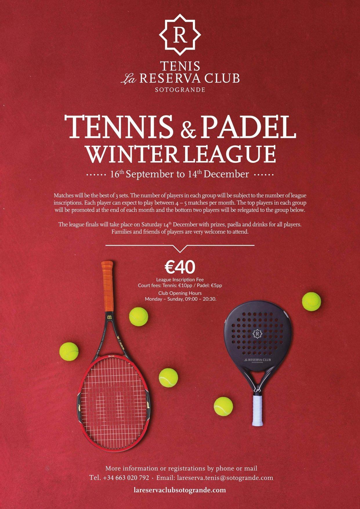 Tennis & Padel Winter League